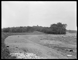Distribution Department, Low Service Spot Pond Reservoir, beach at junction of Sections 1 and 2, Stoneham, Mass., Aug. 17, 1900
