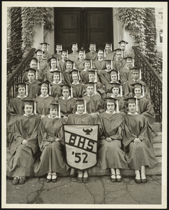 Barre High School graducation picture, class of 1952