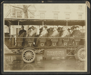 Barre High School class of 1912 on a trip around Washington, D.C.