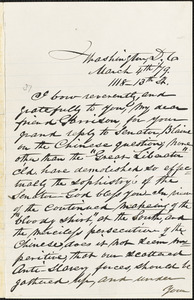 Letter from Robert Purvis, Washington, D.C., to William Lloyd Garrison, [18]79 March 4