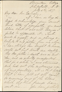 Letter from Mary Quincy, Whitefield, N[ew] H[ampshire], to William Lloyd Garrison, 1877 July 2d