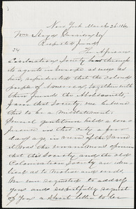 Letter from Charles Lewis Reason and George Thomas Downing, New York, [New York], to William Lloyd Garrison, 1860 March 26