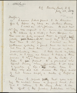 Letter from James Redpath, New York, [New York], to William Lloyd Garrison, 1854 July 26