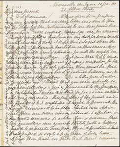 Letter from Ellen Richardson, Newcastle on Tyne, [England], to William Lloyd Garrison, [18]60 [December] 12