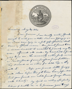 Letter from Nathaniel Peabody Rogers, Concord, [New Hampshire], to William Lloyd Garrison, 1840 Aug[ust] 29