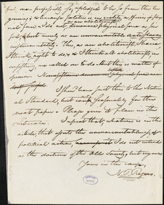 Letter from Nathaniel Peabody Rogers, [Concord, New Hampshire], to William Lloyd Garrison, [1844 January or February]