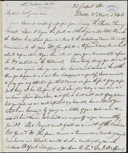 Letter from William Shortt, Dublin, [Ireland], to William Lloyd Garrison, 1846 Nov[ember] 2nd