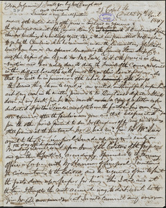 Letter from William Shortt, Dublin, [Ireland], to William Lloyd Garrison, 1847 April 17th