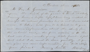 Letter from Fanny Smith, Peterboro[ugh, New Hampshire], to William Lloyd Garrison, 1858 June 4