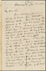 Letter from William Robson, Warrington, [England], to William Lloyd Garrison, 1860 Jan[uary] 25