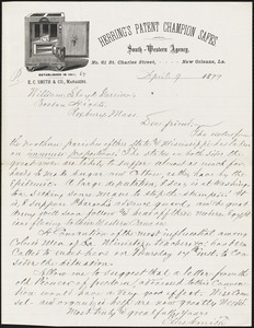 Letter from Elias Smith, New Orleans, L[ouisian]a, to William Lloyd Garrison, 1879 April 9