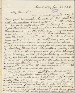 Letter from Increase S. Smith, Dorchester, [Boston, Massachusetts], to William Lloyd Garrison, 1848 Jan[uary] 22