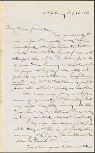 Letter from Gerrit Smith, Albany, [New York], to William Lloyd Garrison, 1863 Feb[ruary] 16