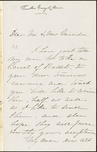 Letter from Mrs. Mary Stearns, Medford, [Massachusetts], to William Lloyd Garrison and Helen Eliza Garrison, 1863 March 4th
