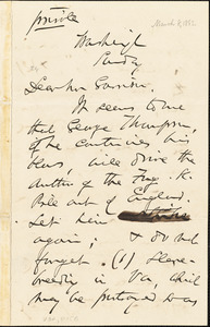 Letter from Charles Sumner, Washington, [District of Columbia], to William Lloyd Garrison, [1863 March 8]