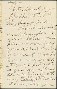 Letter from Theodore Dwight Weld, Perth Amboy, [New Jersey], to William Lloyd Garrison, [18]63 April 28th