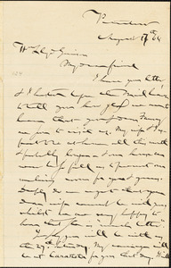 Letter from Gerrit Smith, Peterboro, [New York], to William Lloyd Garrison, [18]64 August 17