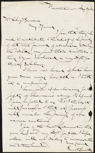 Letter from Gerrit Smith, Peterboro, [New York], to William Lloyd Garrison, [18]64 Aug[ust] 14
