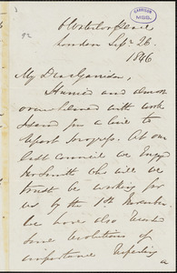 Letter from George Thompson, London, [England], to William Lloyd Garrison, 1846 Sep[tember] 26