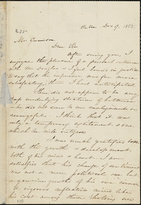 Letter from Harriet Beecher Stowe, Cabin, to William Lloyd Garrison, [1853] Dec[ember] 19