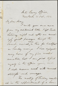 Letter to Oliver Johnson, New York, [New York], to Samuel May, 1864 Oct[ober] 31