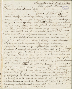 Letter from Jonathan Ward, Brentwood, [New Hampshire], to Amos Augustus Phelps, 1837 Oct[ober] 26