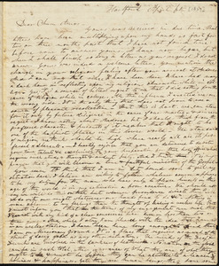 Letter from Elizur Timothy Washburn, [Hartford, Connecticut], to Amos Augustus Phelps, [1827] April 6th