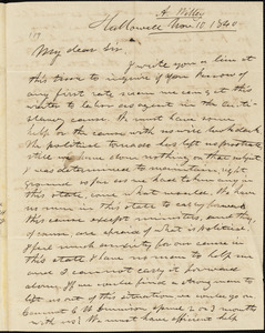 Letter from Austin Willey, Hallowell, [Maine], to Amos Augustus Phelps, 1840 Nov[ember] 10