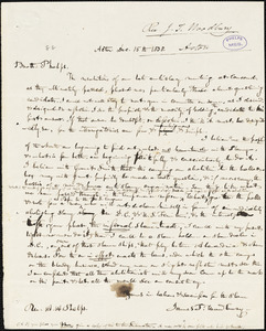 Letter from James Trask Woodbury, Acton, [Massachusetts], to Amos Augustus Phelps, 1838 Dec[ember] 15