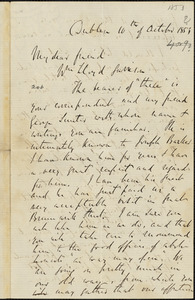 Letter from Richard Davis Webb, Dublin, [Ireland], to William Lloyd Garrison, 1853 October 10th