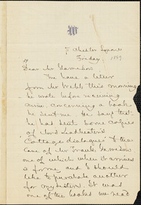 Letter from Anna Cabot Lowell Quincy Waterston, 71 Chester Square, [Boston, Massachusetts], to William Lloyd Garrison, [1869]