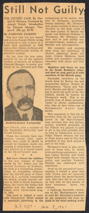 Herbert Brutus Ehrmann Papers, 1906-1970. Sacco-Vanzetti. Clippings re re-issue, 1961. Box 4, Folder 2, Harvard Law School Library, Historical & Special Collections