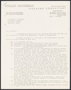 Herbert Brutus Ehrmann Papers, 1906-1970. Sacco-Vanzetti.  1962 MS entitled The Case That Will Not Die. Box 4, Folder 7, Harvard Law School Library, Historical & Special Collections