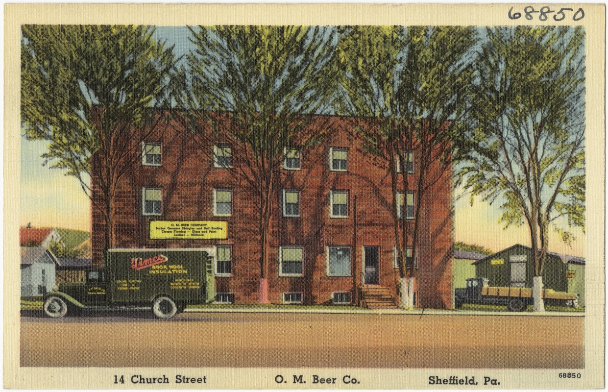 14 Church Street, O. M. Beer Co., Sheffield, Pa.