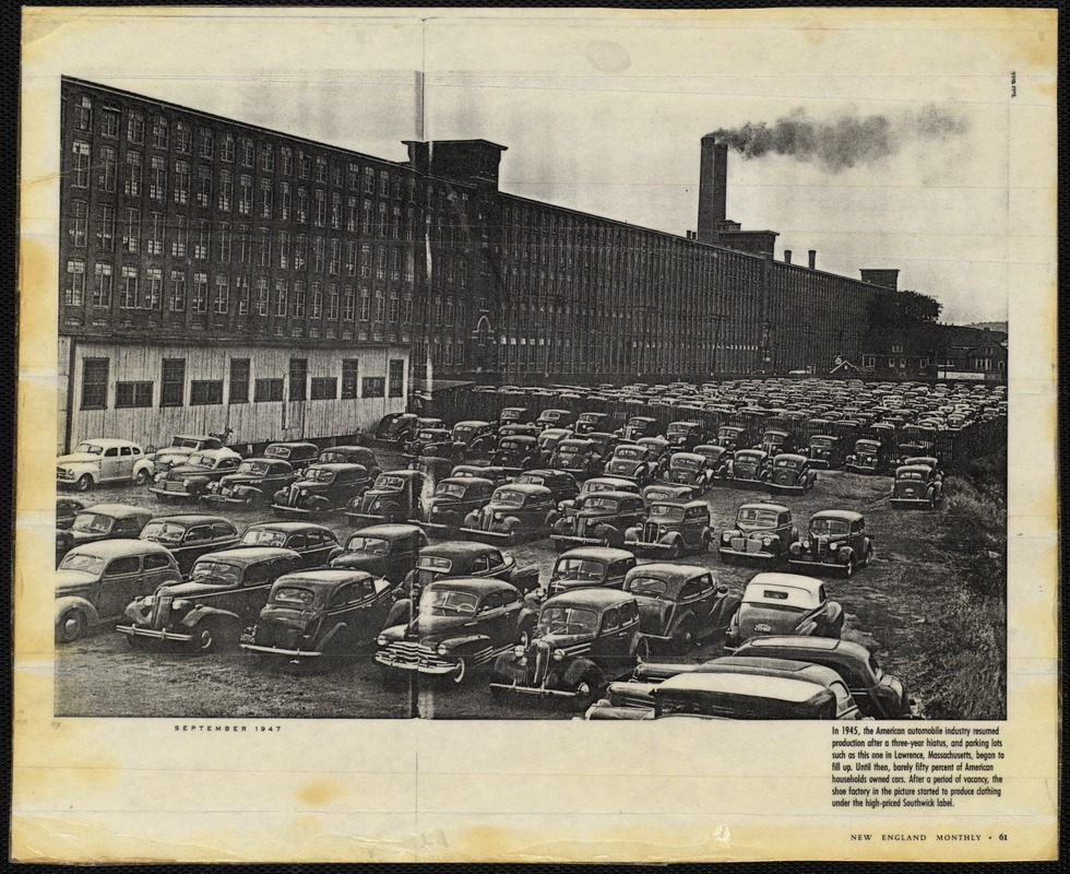 In 1945, the American automobile industry resumed production after a three-year hiatus