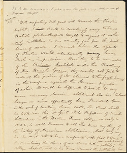 Letter from Elizur Wright, Dorchester, [Massachusetts], to Amos Augustus Phelps, 1840 Aug[ust] 20