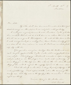 Letter from Angelina Emily Grimkè, Brookline, [Massachusetts], to Eliza Jones Chase, 1837 [August] 28