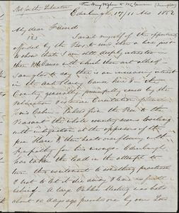Letter from Henry Wigham, Edinburgh, [Scotland], to William Lloyd Garrison, 1852 [November] 17