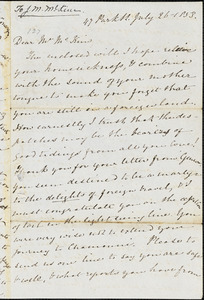 Letter from Mary Anne Estlin, Bristol, [England], to James Miller M'Kim, 1853 July 26