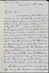 Letter from John Bishop Estlin, Bristol, [England], to Louis Alexis Chamerovzow, 1835 Feb[ruary] 13