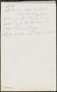 Letter from John Bishop Estlin, Paris, [France], to Mrs. W.C. Barclay, 1850