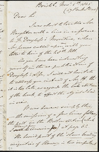 Letter from John Bishop Estlin, Bristol, [England], to Otis James, 1845 November 5