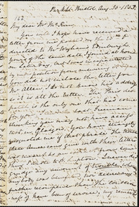 Letter from Mary Anne Estlin, [Bristol, England], to James Miller McKim, 1853 Aug[ust] 30