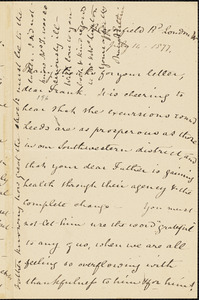 Letter from Mary Anne Estlin, London, [England], to Francis Jackson Garrison, 1877 July 16