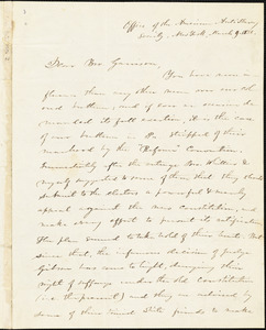 Letter from Elizur Wright, Office of the American Anti-Slavery Society, New York, [New York], to William Lloyd Garrison, 1838 March 9
