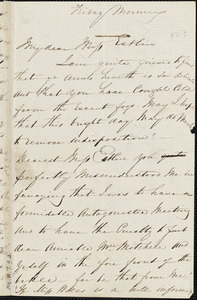 Letter from Francis Bishop to Mary Anne Estlin