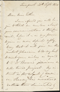 Letter from Francis Bishop, Liverpool, [England], to Mary Anne Estlin, 1850 Sept[ember] 30