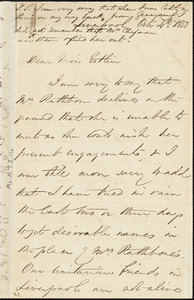 Letter from Francis Bishop, Liverpool, [England], to Mary Anne Estlin, 1850 Oct[ober] 4