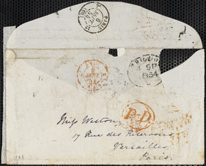 Letter from Francis Bishop, Liverpool, [England], to Mary Anne Estlin, 1854 September 6