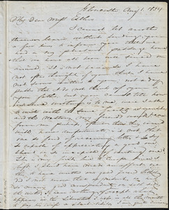Letter from Charles F. Hovey, Gloucester, [England], to Mary Anne Estlin, 1854 Aug[ust] 1st